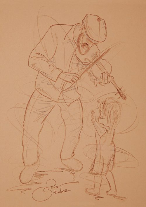 man med fiol