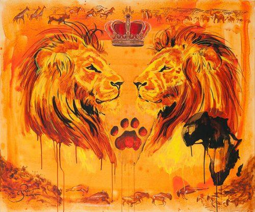 Lejon, kung över Afrika